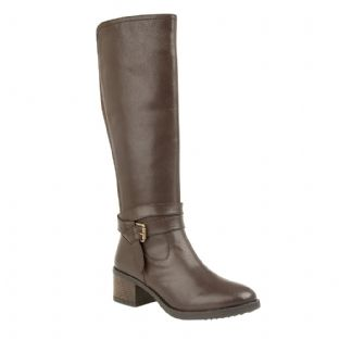 Lotus Womens Janessa Brown Leather Knee High Boots